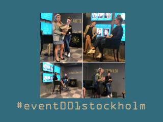 Event 001 Stockholm - intervjuer & mingel
