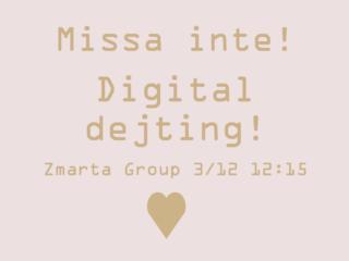 Event 033 - en digital dejting